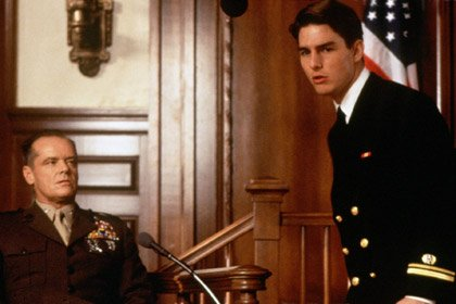 Tom Cruise in A Few Good Men, Jack Nicholson, 50 years old