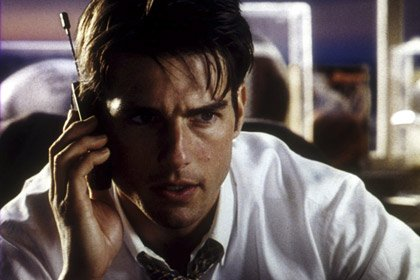 Tom Cruise in Jerry Maguire, 50 years old