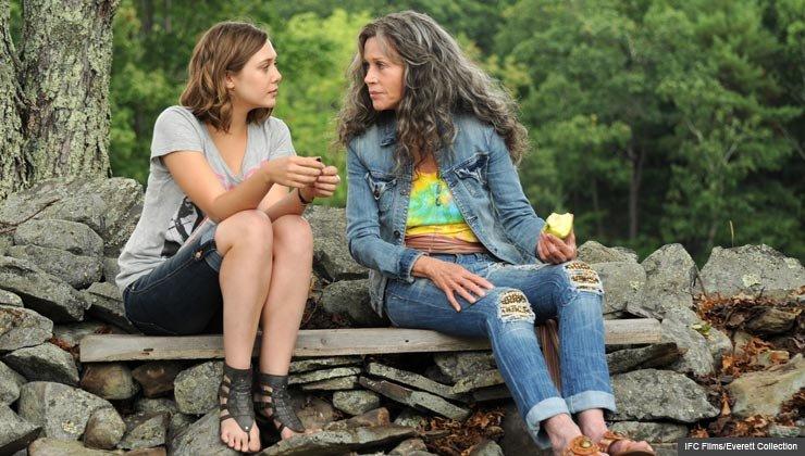 l-r: Elizabeth Olsen and Jane Fonda in PEACE, LOVE,  MISUNDERSTANDING