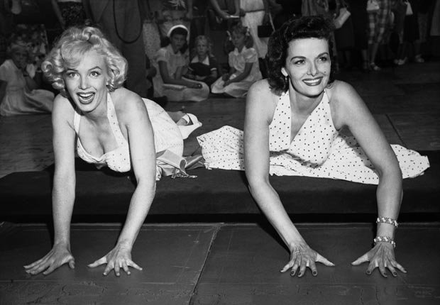 Marilyn Monroe and Jane Russell Hollywood's Grauman's Chinese Theatre