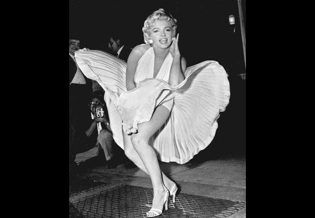Marilyn Monroe The Seven Year Itch skirt blowing scene