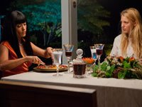 From left: Salma Hayek and Blake Lively star in Savages