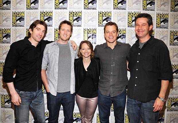 ELYSIUM panel at COMIC-CON 2012 with Sharlto Copley, Director/Writer/Producer Neill Blomkamp, Jodie Foster, Matt Damon and Producer Simon Kinberg