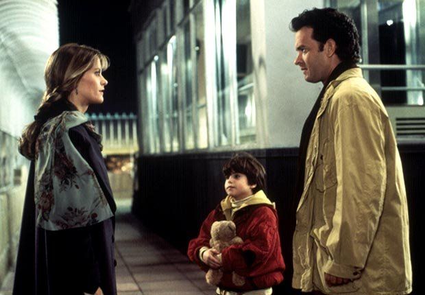 A famous scene from Sleepless in Seattle starring Meg Ryan, Ross Malinger, and Tom Hanks which came out in 1993. For the best movie couples slideshow.