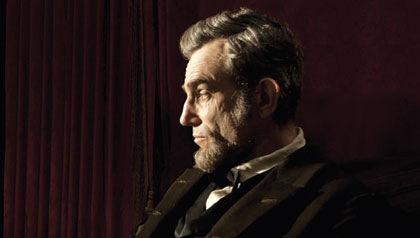Daniel Day Lewis stars as President Abraham Lincoln in this scene from director Steven Spielberg's