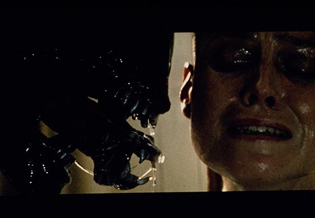 Sigourney Weaver faces off with the alien in Alien III from 1991.