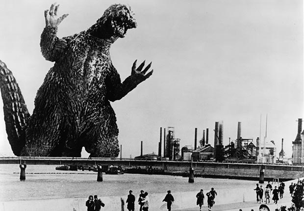 Godzilla in a scene from the film 'Godzilla VS. The Smog Monster', 1971. For our favorite monsters slideshow.