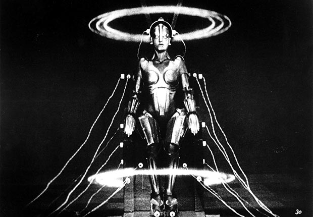 Brigitte Helm plays The Robot Maria in Fritz Lang's Metropolis from 1927. For our favorite monsters slideshow.