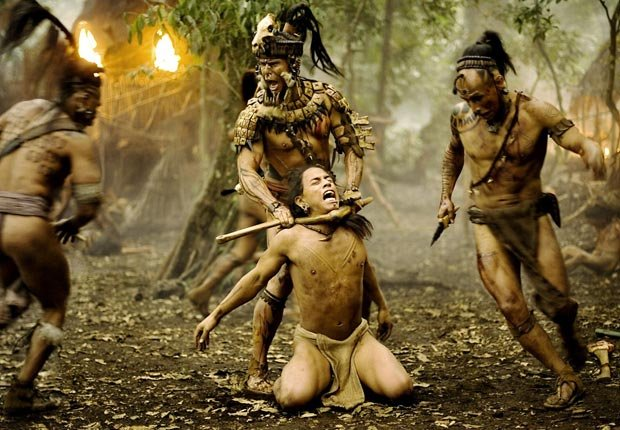 APOCALYPTO, (center l-r), Raoul Trujillo, Rudy Youngblood, Gerardo Taracena, 2006. For the Action Movies for Grownups slideshow.