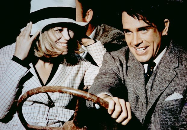 BONNIE AND CLYDE, Faye Dunaway, Warren Beatty, 1967. For the Action Movies for Grownups slideshow.