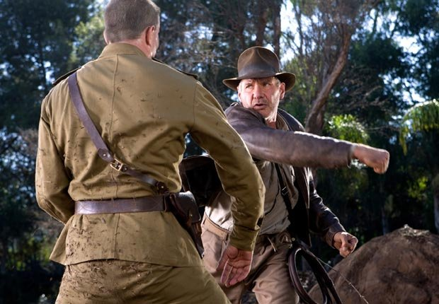 INDIANA JONES AND THE KINGDOM OF THE CRYSTAL SKULL, starring Harrison Ford, 2008. For the Action Movies for Grownups slideshow.