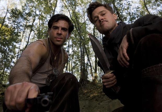 Inglourious Basterds (2009)- Eli Roth, Brad Pitt. For the Action Movies for Grownups slideshow.