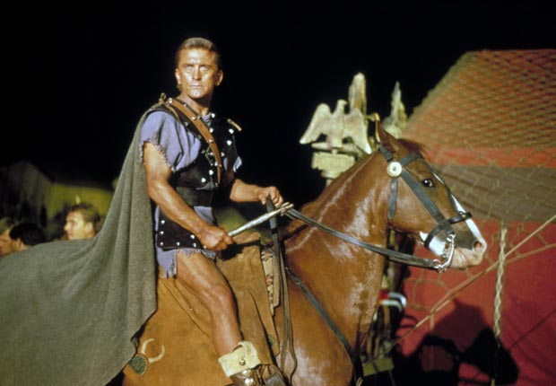 SPARTACUS, Kirk Douglas, 1960. For the Action Movies for Grownups slideshow.