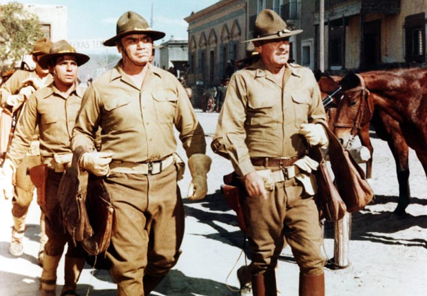 10-THE WILD BUNCH, front from left: Ernest Borgnine, William Holden, 1969. For the Action Movies for Grownups slideshow.