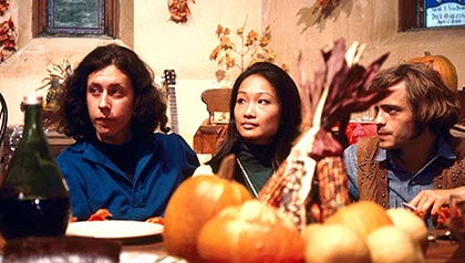 Arlo Guthrie, Tina Chen and Michael McClanathan in Alice's Restaurant, Thanksgiving movies