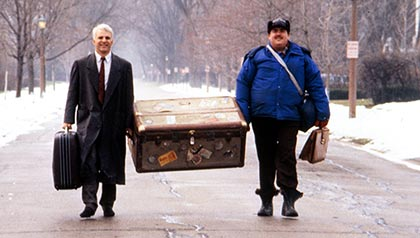 Steve Martin, John Candy in Planes, Trains and Automobiles, and other Thanksgiving movies