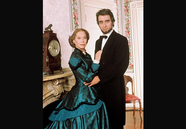 Sam Waterston and Mary Tyler Moore in Lincoln, 1988, actors playing Lincoln