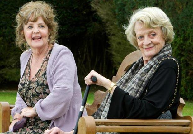 Pauline Collins and Maggie Smith in Quartet