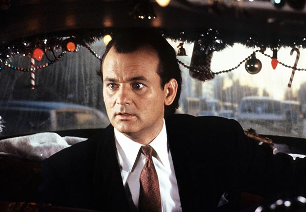Bill Murray in Scrooged, 1988.