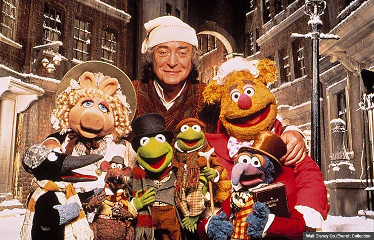 Michael Caine as Scrooge in A Muppet Christmas Carol
