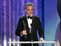 Daniel Day-Lewis accepts award at Screen Actors Guild Awards 2013