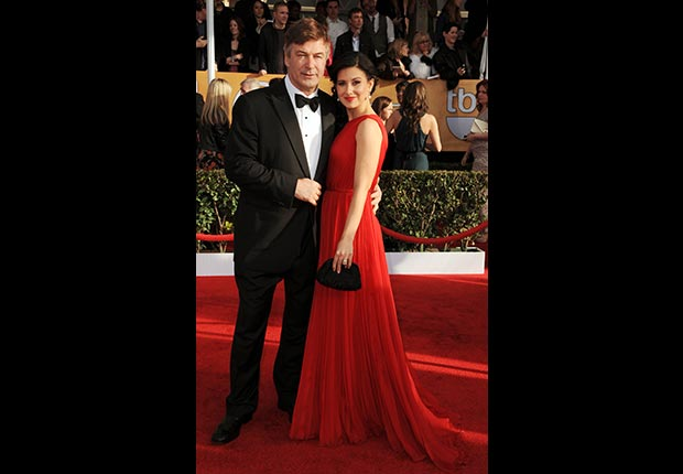 Alec Baldwin and wife Hilaria Thomas on red carpet at Screen Actors Guild Awards 2013