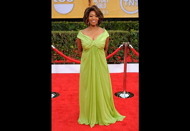 Alfre Woodard on red carpet at Screen Actors Guild Awards 2013