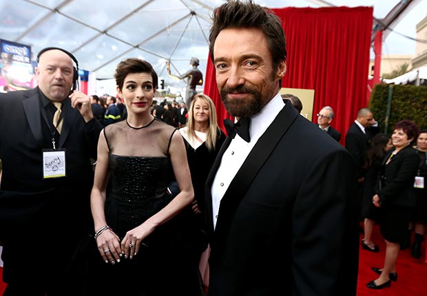 Anne Hathaway and Hugh Jackman at the Screen Actors Guild Awards 2013