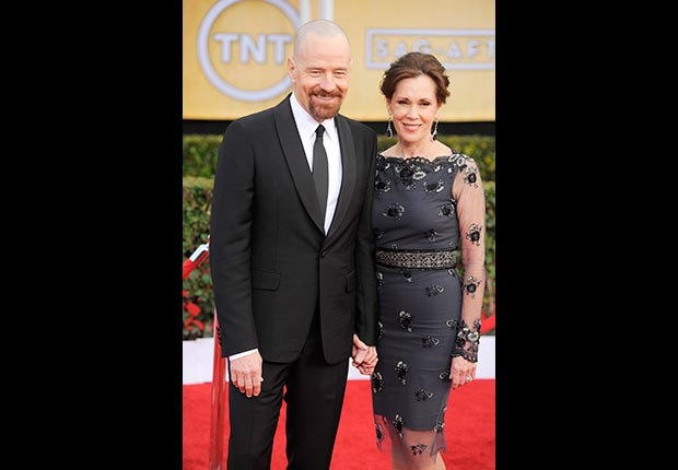 Bryan Cranston and Robin Dearden on red carpet at Screen Actor Guild Awards 2013