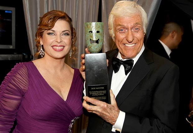 Dick Van Dyke and Arlene Silver at Screen Actors Guild Awards 2013