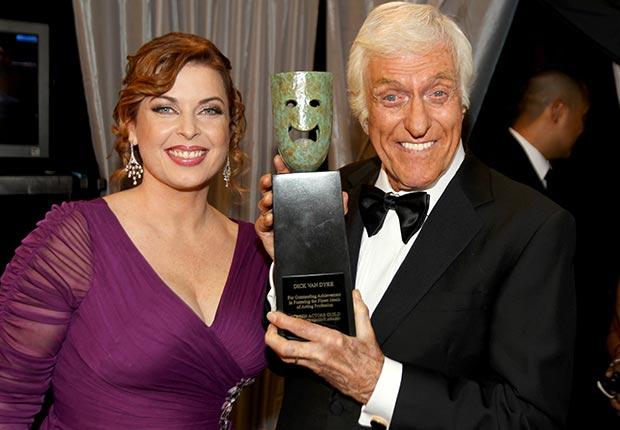Dick Van Dyke and Arlene Silver at Screen Actors Guild Awards 2013