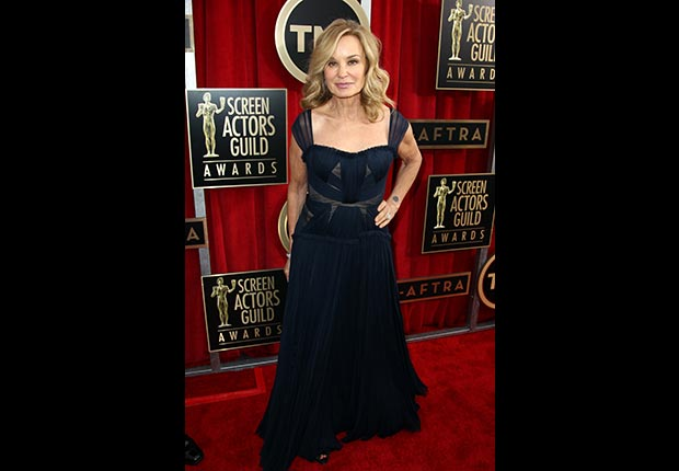 Jessica Lange on the red carpet at Screen Actors Guild Awards 2013