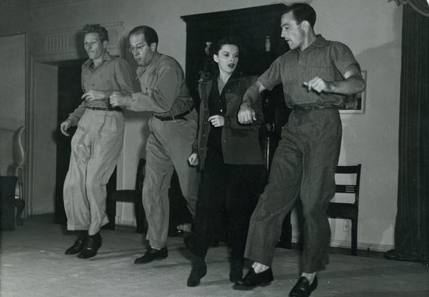 Danny Kaye, Phil Silvers, Judy Garland and Gene Kelly
