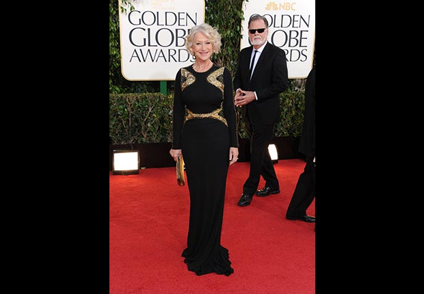 Actress Helen Mirren at 70th Annual Golden Globe Awards