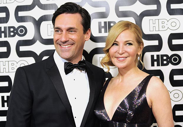 Jon Hamm and Jennifer Westfeldt at the HBO Golden Globe After Party