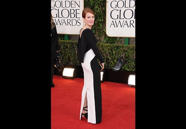 Actress Julianne Moore at 70th annual Golden Globe Awards