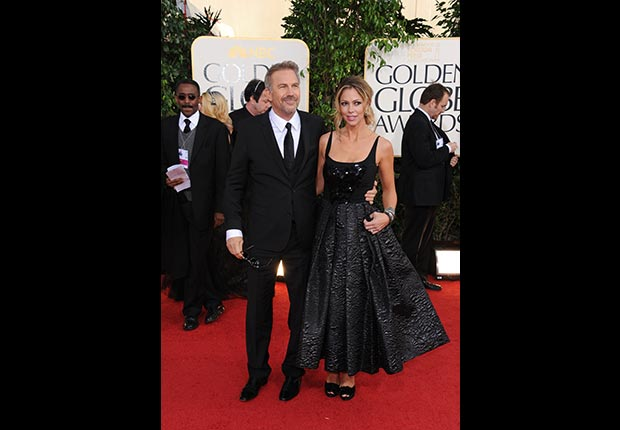 Actor Kevin Costner at 70th Annual Golden Globe Awards