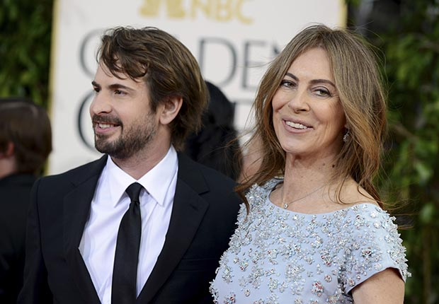 Mark Boal and Kathryn Bigelow at 70th Annual Golden Globe Awards