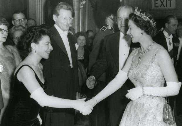 Danny Kaye and Queen Elizabeth II