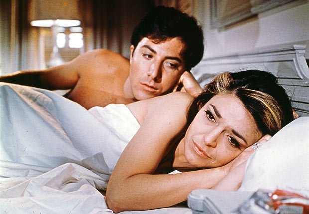 Dustin Hoffman and Anne Bancroft in The Graduate