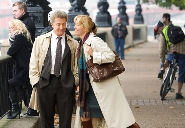 Dustin Hoffman y Emma Thompson en la película Last Chance Harvey en 2008