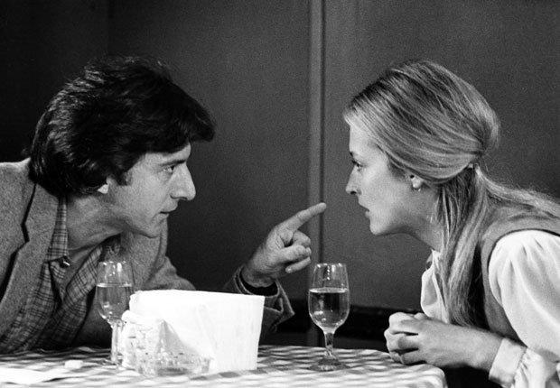 Dustin Hoffman y Meryl Streep en la película Kramer vs. Kramer en 1979