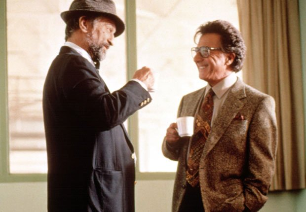 Dustin Hoffman y Robert De Niro en la película Wag the Dog en 1997