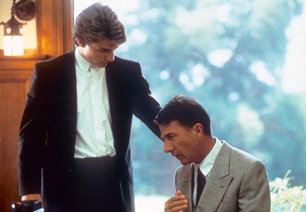 Dustin Hoffman y Tom Cruise en la película Rain Man en 1988