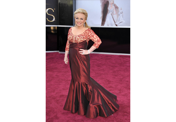 Actress Jacki Weaver arrives at the 85th Academy Awards