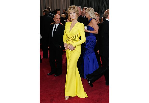 Jane Fonda arrives at the Oscars