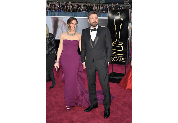 Actors Jennifer Garner, left, and Ben Affleck arrive at the Oscars