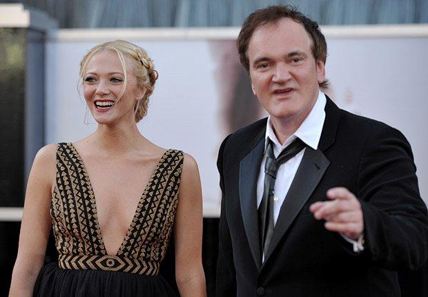 Director Quentin Tarantino y actriz Lianne Spiderbaby - Alfombra roja Oscar 2013.