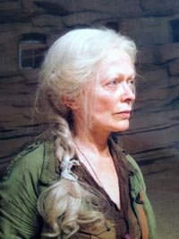 Frances Fisher, in costume on the set of the film The Host