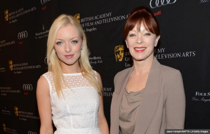 Francesca Eastwood and Frances Fisher on red carpet